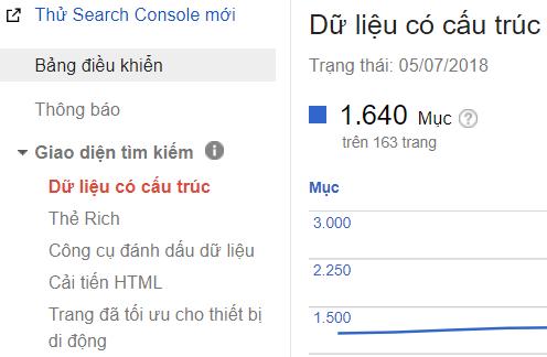 Dữ liệu có cấu trúc Google Search Console